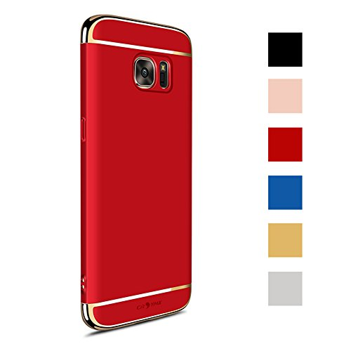 Galaxy S7 Case Back Cover, Ultra Slim & Rugged Fit Shock Drop Proof Impact Resist Hard Protect Case for Samsung Galaxy S7 (5.1)(2016) - Red