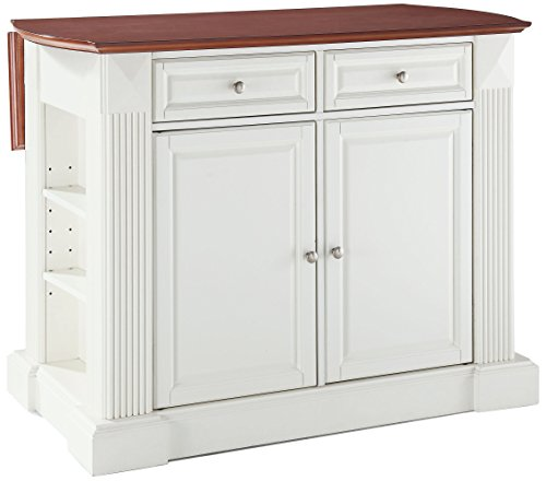 Crosley Furniture Drop Leaf Kitchen Island/Breakfast Bar ...