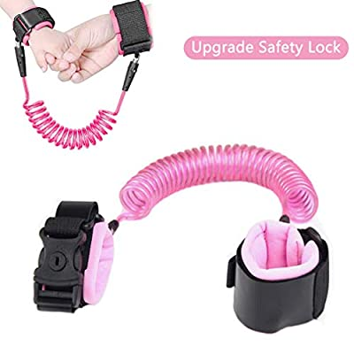 Anti Lost Wrist Link, Upgrade Version Safety Toddler Harness Leashes Child Safety Wristband Wrist Leash with Lock for Kids Toddlers 6.56ft