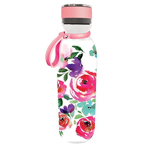 Boho Floral Party 20 OZ Stainless Steel Traveler - 3 x 3 x 10 Inches