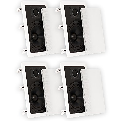 Theater Solutions 6.5 Inch In Wall Home Theater Speakers 720 Watts 2 Pair Pack 2CS6W by Theater Solutions