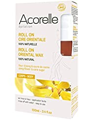 Acorelle Roll On Oriental Body Wax, Brown, 3.4 Ounce
