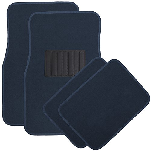 OxGord 4pc Full Set Carpet Floor Mats, Universal Fit Mat for Car, SUV, Van Trucks - Front Rear, Driver Passenger Seat ()