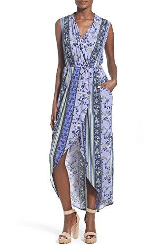 ASTR Dress Floral Large Printed Purple Women's Maxi qqZrRxPw