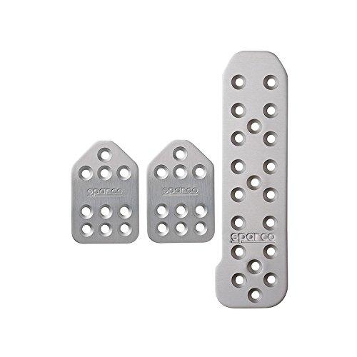 - Sparco 037879BAFT Pedal Set (Piuma Long Silver)