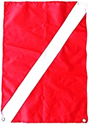 Dovewill Heavy Duty Large Safety Scuba Dive Diver Down Boat Flag Signal Banner Accessories