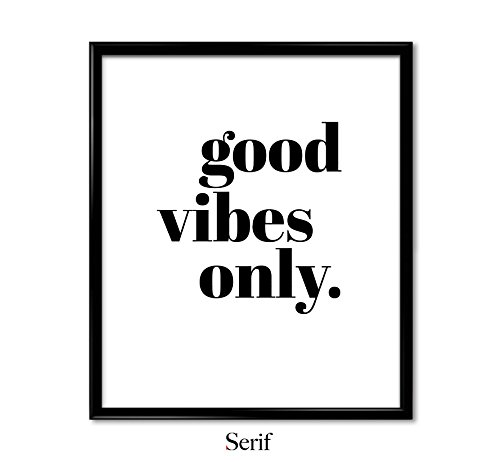 Good Vibes Only poster, Quote Poster, Art Print, Wall Art, Poster - Bold - Small (8.5x11 in)