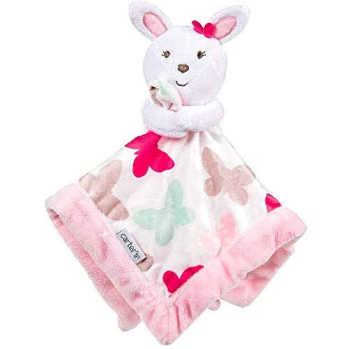 Carter's Bunny Rabbit Butterfly Security Blanket Pink/White (Carters Bunny Blanket)