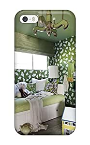 Iphone 5/5s Case, Premium Protective Case With Awesome Look - Bright Green Girls Bedroom With Daybed And Bookshelves