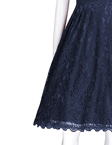 Black blue Summer 891 A Line ADAMARIS Women's Square Sleeve Dress Collar Slim Short WB04O0gqw