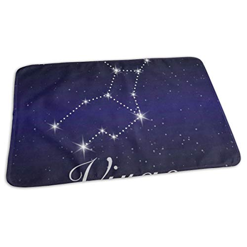 Diaper Zodiac Cover - Changing Pad Virgo Zodiac Constellations Baby Diaper Incontinence Pad Mat Fantastic Kids Mattress Cover Sheet for Any Places for Home Travel Bed Play Stroller Crib Car