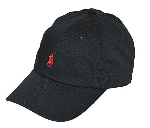Polo Ralph Lauren Sports Pony Logo Hat Cap (One size, RL Black)