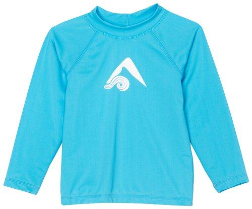 Kanu Surf Toddler Girls' Keri UPF 50+ Rashguard, Aqua, 3T (Girls Long Sleeve Shirt Top)