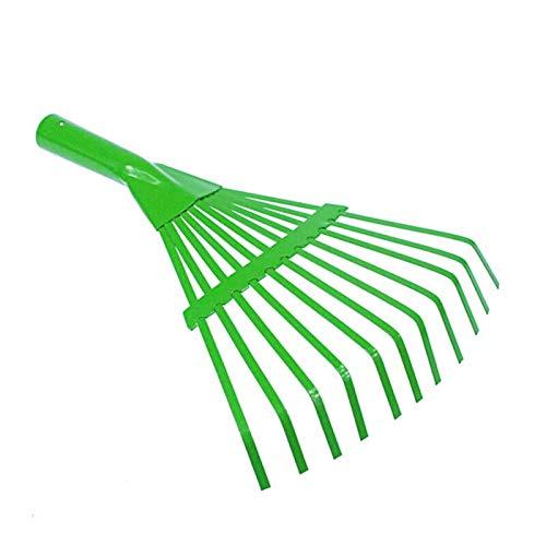 - Yunhigh Garden Leaf Rake, Metal Leaf Rake Head for Lawn Garden Heavy Duty Shrub Fan Rake Garden Tool - Green