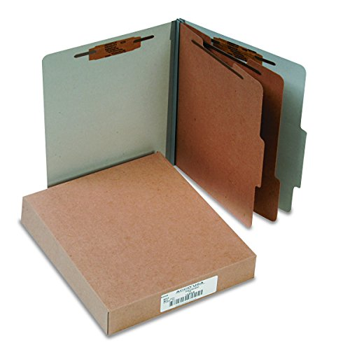 ACCO 15056 ACCO Pressboard 25-Point Classification Folders, Ltr, 6-Section, Mist GY, -