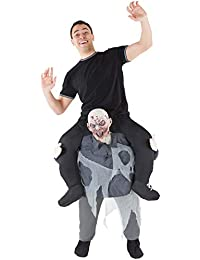 Men's Women's Halloween Piggy Back Funny Piggyback Costume - with Stuff Your Own Legs