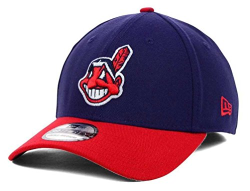 MLB Cleveland Indians Team Classic Home 39Thirty Stretch Fit Cap, Blue, Medium/Large ()