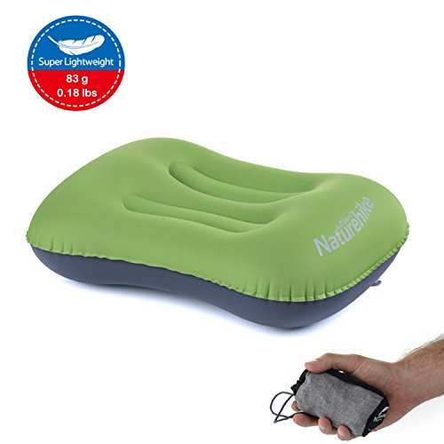 Naturehike Ultralight Camping Travel Inflating Pillow, Portable Compact Comfortable, for Hiking, Backpacking, Picnic, Outdoor Sports (Apple Green - Updated Version) (Time Apple Picnic)