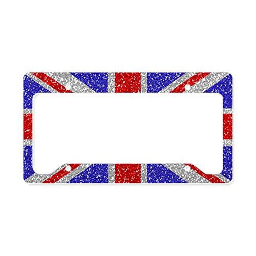 CafePress British Glam Aluminum License Plate Frame, License Tag Holder
