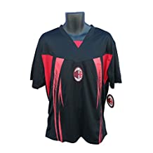 AC Milan Soccer Officially Licensed Adult Soccer Training Performance Poly Jersey 004R Rhinox