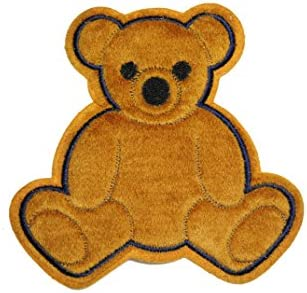 Shore And Roar Teddy Bear Fun Embroidered Iron On Patch P6-F