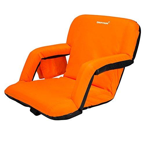 Driftsun Stadium Seat Reclining Bleacher Chair Folding with Back / Sport Chair Reclines Perfect For Bleachers Lawns and Backyards
