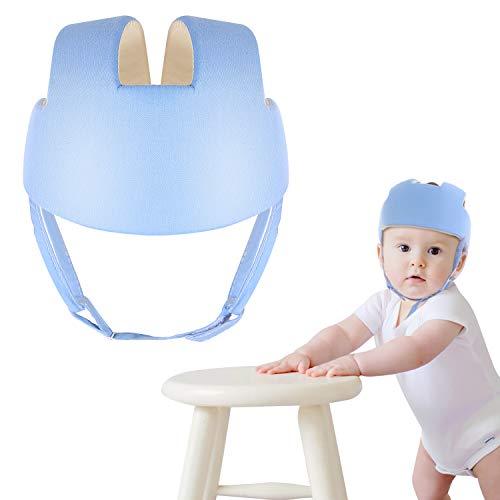 Baby Toddler Safety Adjustable Helmet Cap Infant Protective Harnesses Helmet Blue/Pink