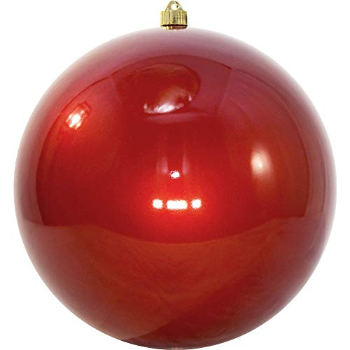 Christmas by Krebs KBX72957 Shatterproof Christmas Ball Ornament, 12-Inch, Candy Red
