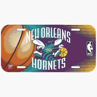NBA New Orleans Hornets License Plate by TeamFanatics