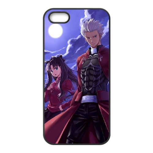 Fate Stay Night 019 coque iPhone 5 5S Housse téléphone Noir de couverture de cas coque EOKXLLNCD12758