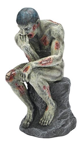 PTC Pacific Giftware Sitting Skeleton Zombie Thinker Statue Figurine, 8