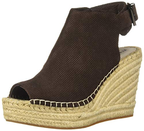 (Kenneth Cole New York Women's Olivia 2 Perf Espadrille Wedge Sandal, Chocolate 9 M US)