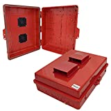 Altelix 17x14x6 Vented Red Polycarbonate + ABS Weatherproof Tamper Resistant NEMA Enclosure