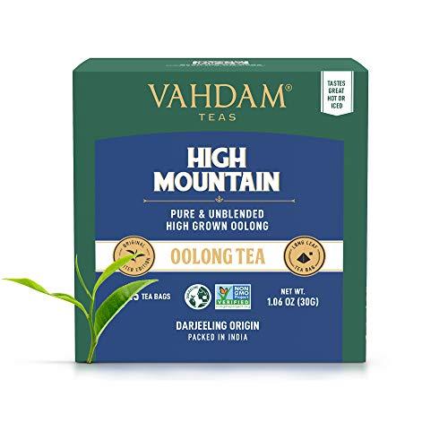 Himalayan Oolong Tea (30 Bolsitas de te) - 100% de te de desintoxicacion natural, te de Oolong Hojas de te de piramide de hojas sueltas, Te Oolong Adelgazante , cerveza caliente, te helado o Kombucha