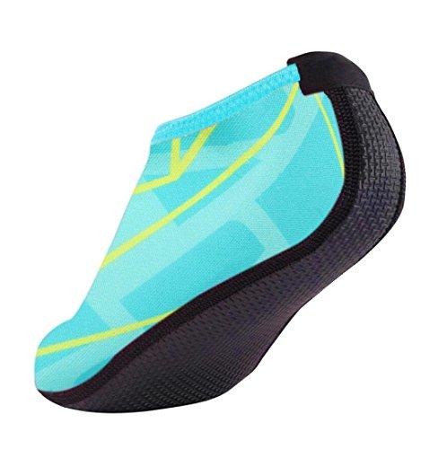 Breathable Unisex FNKDOR Blau Fitnessschuhe Schuhe Herren Trocknend Yoga Damen Aquaschuhe Schnell Kinder für Schlüpfen Schwimmschuhe 1tfqxfTw