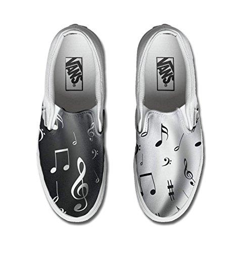 Vans unisex (Femme / homme) personnalisé produit artisanal Les notes de musique