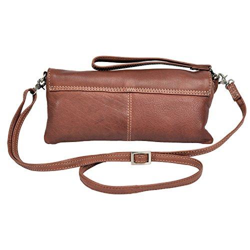 Clutch / Mini-Bag aus fettgegerbtes weiches Vollrindleder von Shalimar Natur