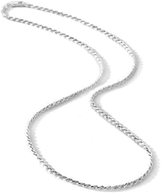 """STERLING SILVER NECKLACE CHAIN OR PENDANT DC SPIGA 16/"""" 18/"""" 20/"""" INCH 1.5mm WIDE"""