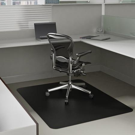 Deflecto 36 x 48 EconoMat Occasional-Use Chair Mat for Low Pile Carpet, Black by Supernon ()