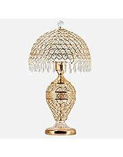 Crayom 鈥嬧€婨uropese tafellamp luxe hotel bureaulamp slaapkamer bedlampje woonkamer glas kristal bruiloft decoratie tafellamp creatieve verlichting (kleur: goud)
