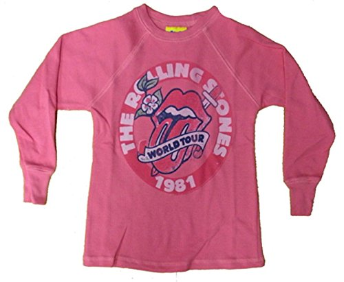 - Junk Food Rolling Stones 1981 World Tour Girls Thermal Shirt Size 6x