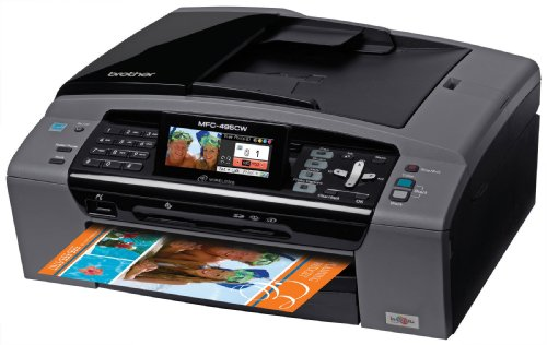 Brother MFC-495CW Inkjet Color Multifunction Center with Wireless Networking for the Small (Fax Multifunction Center)