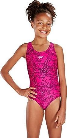 Only Sports Gear Speedo Girls Boom Allover Splashback Swimming Costume Only Sportsgear