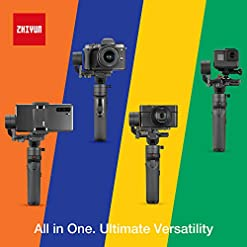 Zhiyun Crane M2 (Crane M Upgraded Version) Handheld 3-Axis Gimbal Stabilizer Compatible with Smartphone iPhone Android… Camera and Photo