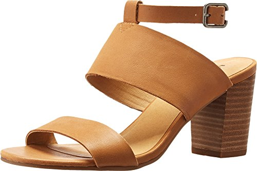 Lucky Brand Women's Jodalee Ankle Strap Sandal,Brown Sugar Leather,US 10 - Warehouse Brand