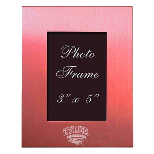 Tyler Junior College Pink Brushed Aluminum 3 x 5 Photo Frame 'Official Logo Engraved' by CollegeFanGear