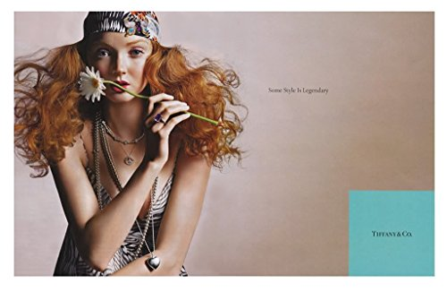 --PRINT AD-- With Lilly Cole For 2008 Tiffany & Co. Jewelry --PRINT - And Co Sale Tiffany