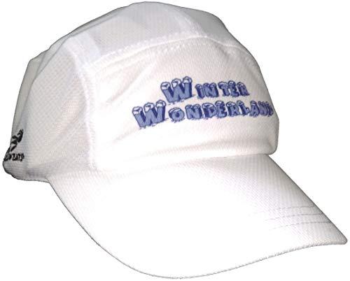 Headsweats Performance Race/Running/Outdoor Sports Hat - Holiday Logo (Winter Wonderland - White)