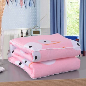 HOMEE Dual-Use Cotton Pillow is Pure Cotton Children Kindergarten Quilt Cool in the Summer is Air-Conditioned by a Car Sofa Cushion,Pink Dream,5050