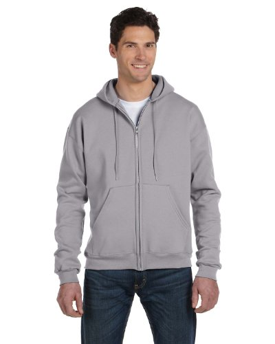 - Champion Eco 9 oz. Full-Zip Hood, XL, LIGHT STEEL
